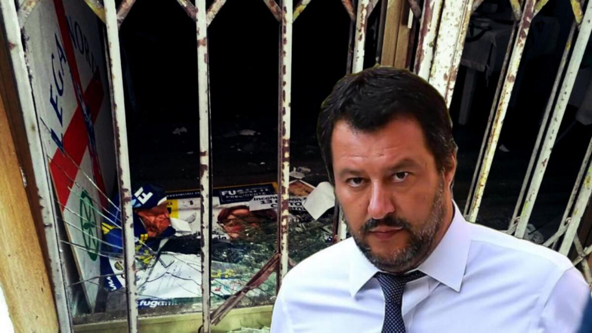 Bomba carta contro sede Lega. Tutti zitti! (14 ott 2018)