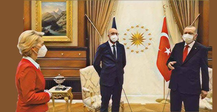 Erdogan lascia Ursula von der Leyen senza sedia